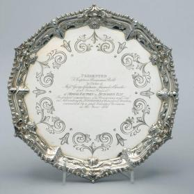 Salver presented to Captain Benjamin Bell of the Hudson's Bay Company ship 'Emerald'