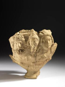 Vase with relief of Serapis, Harpocrates and Isis