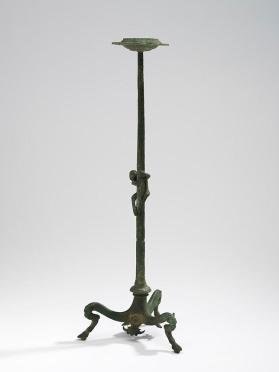 Thymiaterion (incense burner) with tripod base and a climbing monkey