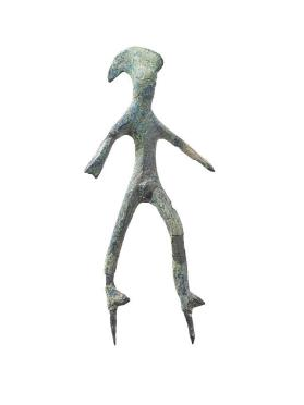 Striding warrior figure