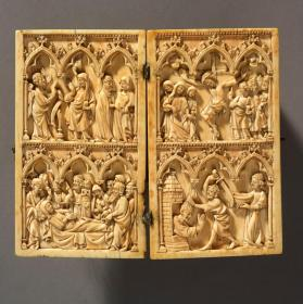 Diptych depicting scenes from the Life of the Virgin and St. John the Baptist
