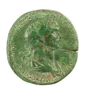 Sestertius coin of Trajan