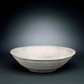 Bowl with semi-opaque white glaze