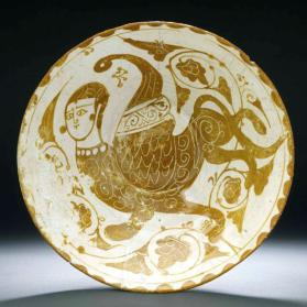 """Tell Minis"" style bowl with human-headed winged lion"