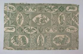 "Furnishing fabric: ""The Lion in Love or Leda"" [Le lion amoureux ou Leda]"