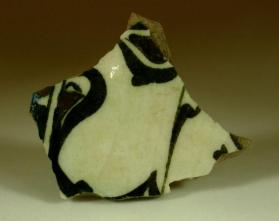 Underglaze-painted bowl sherd
