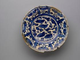 Plate with birds