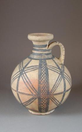 Jug with painted lattice decoration