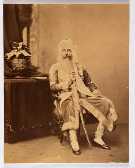 Portrait of Sir Hira Singh, Raja of Nabha  (1843-1911) (r. 1871–1911)