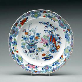 Plate, inspired by Chinese export porcelain