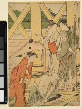 Boating Parties under the Ryôgoku Bridge (part of a triptych)