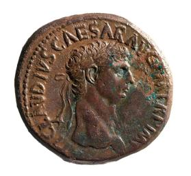 Sestertius wtih laureate head of Claudius
