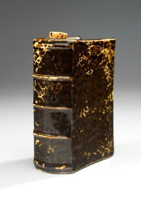 Flask, in the shape of a book