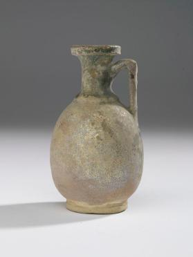 Small green glazed flagon