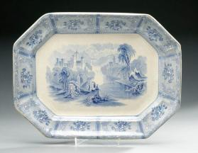 "Platter in ""Ontario Lake Scenery"" pattern"