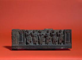 Relief of six figures in Indian dress