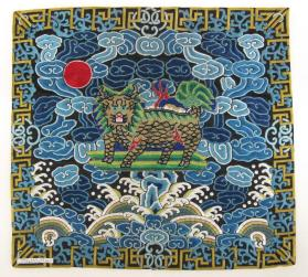 Insignia for a 1st rank military official (qilin)