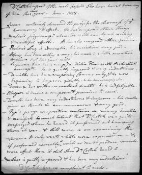 Handwritten report on the Male Pupils by Dr. William Crotch