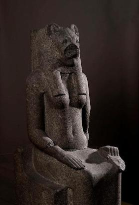 Statue of lion-headed goddess Sekhmet