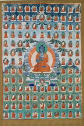 Thangka painting of a Dhyani Buddha