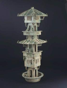 Burial model of a watch-tower