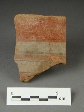 Jar fragment with striped decoration