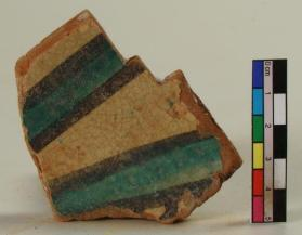 """Stars and Stripes"" ware vessel fragment (body sherd)"