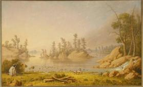 """Hunting Ducks,"" Northern Algonquian (Ojibwa)"
