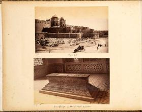 Agra fort from photograph album of Views of India
