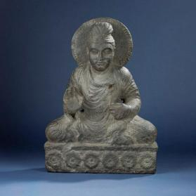 Figure of seated Buddha