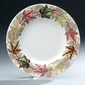 "Soup plate in ""Maple"" pattern"
