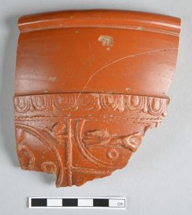 Rim fragment from a Samian ware bowl