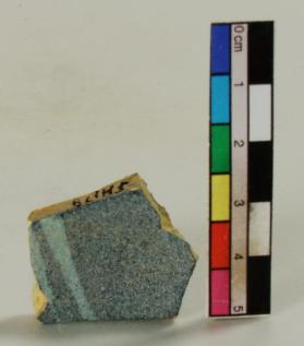Blue-painted ware vessel fragment (body sherd)
