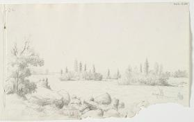 """Poling up the St. Mary's River,"" Chippewa/Southeastern Ojibway"