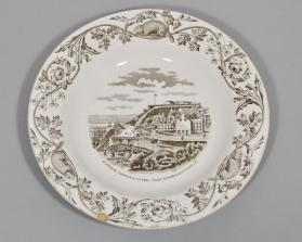 "Bowl in ""Quebec"" pattern, with scene ""Dufferin Terrace & Citadel"""