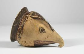 Etrusco-Corinthian black-figure rhyton in the form of an eagle's head