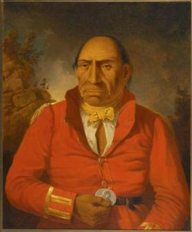 """Chief from Fort William,"" (Portrait of Chief Maydoc-game-kinungee), Ojibwa"