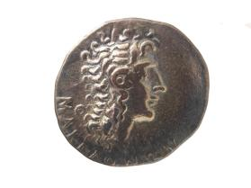 Tetradrachm of Aesillas as Quaestor, with idealized head of Alexander III