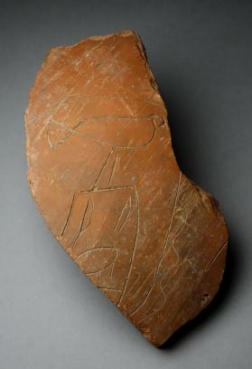 Jar fragment with incised Horus Semerkhet domain mark