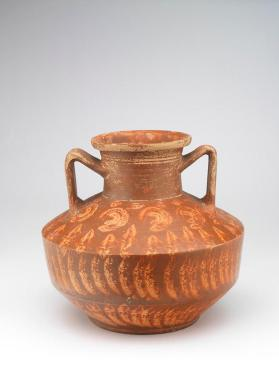 "Red-slip ""Eastern Sigillata A"" ware jar with two handles"