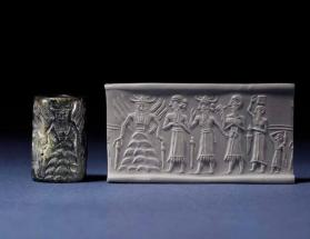 Cylinder seal with presentation scene to Shamash