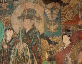 "Daoist wall painting ""Homage to the Highest Power"" (east wall)"