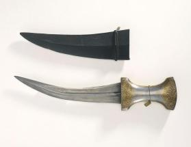Djanbīyya (curved dagger) with sheath