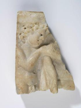 Fragment of a sarcophagus with Cupid
