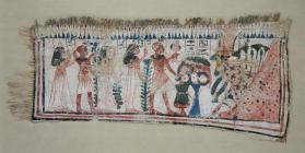 Votive textile depicting offerings to the cow goddess Hathor