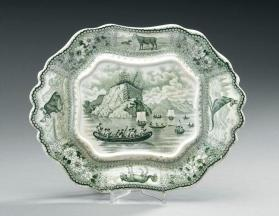 "Tureen stand in the ""Arctic Scenery"" pattern"