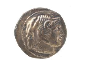 Tetradrachm with head of Alexander in an elephant skin