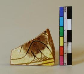 Hatched slip-incised ware bowl fragment  (body sherd)