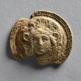 Medallion with the head of Athena Parthenos