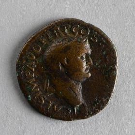 As coin of Titus under Vespasian